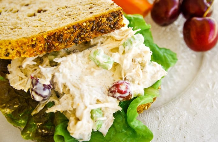 chicken salad recipe with grapes sandwich