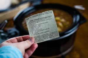 homemade vegetable beef soup recipe from newspaper