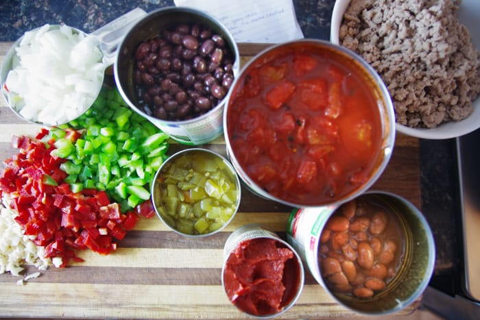 healthy turkey chili ingredients