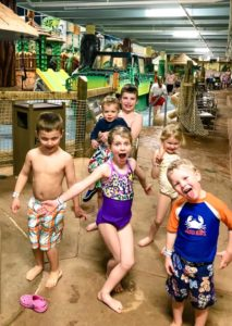 kids at Kalahari