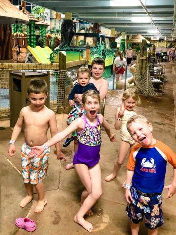 kids at Kalahari
