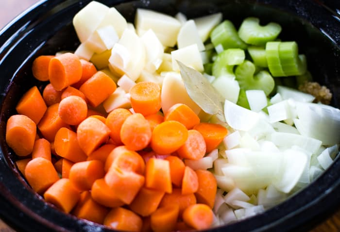 carrots, celery, onions, potatoes and all stew ingredients