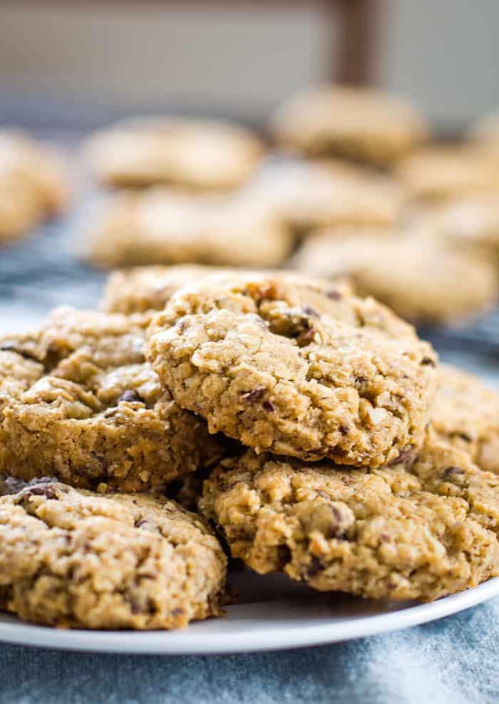 plate of cowboy cookies