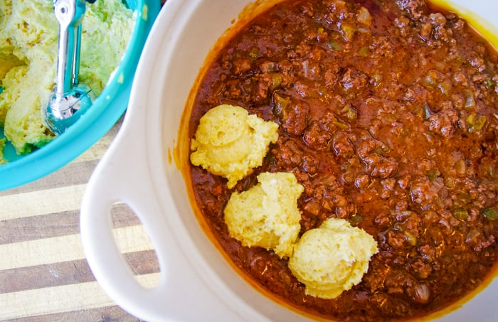 tamale pie venison sauce with cornbread