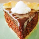 slice of chocolate coconut pie on plate