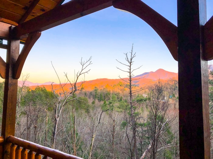 view from cabin in Gatlinburg