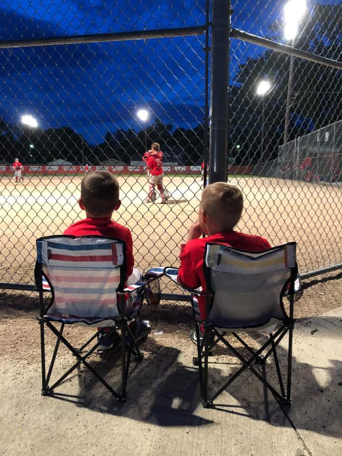 boys at ball field
