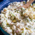 homemade potato salad in bowl