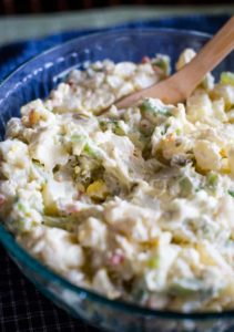homemade potato salad in bowl
