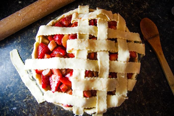 how to lattice pie dough
