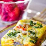 egg casserole on plate