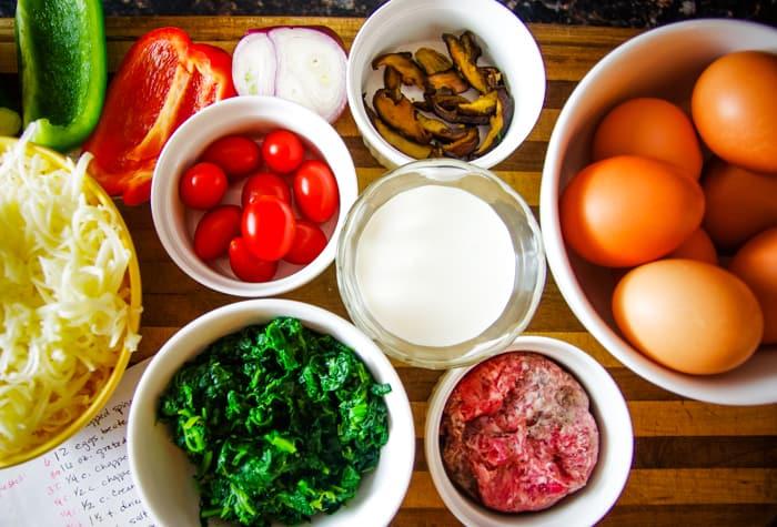 egg casserole ingredients