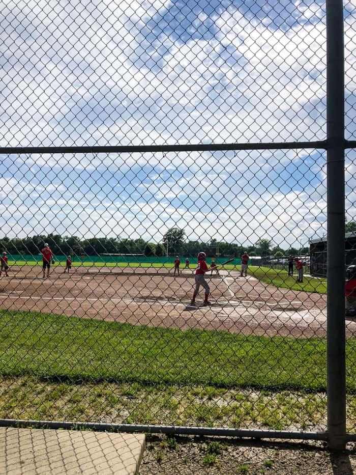baseball on sunny day