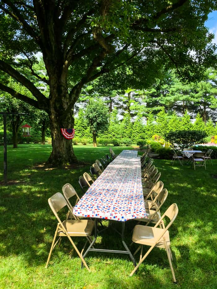 table for picnic