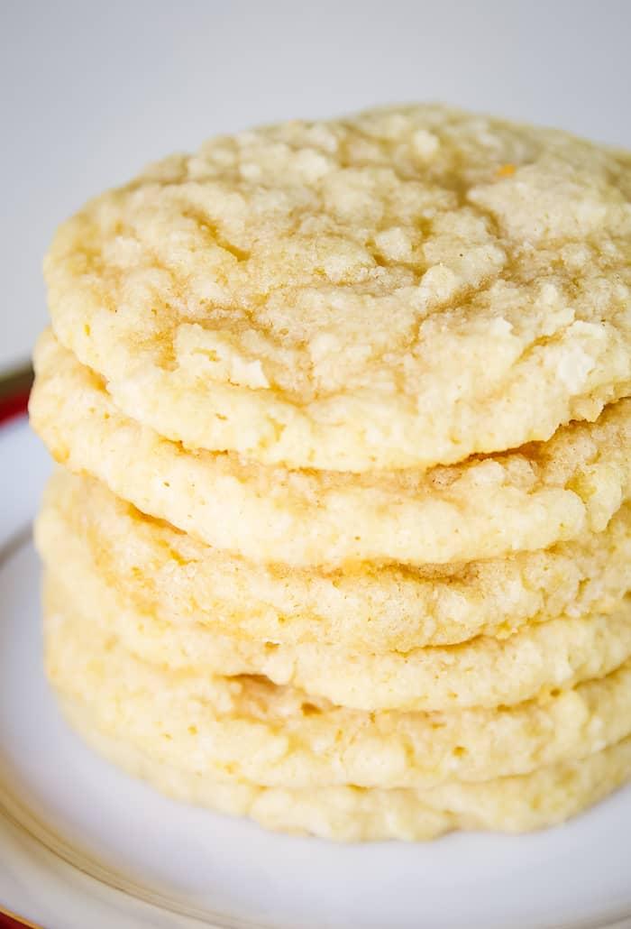 stack of gluten free coconut cookies
