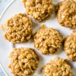 no bake oatmeal cookies on plate