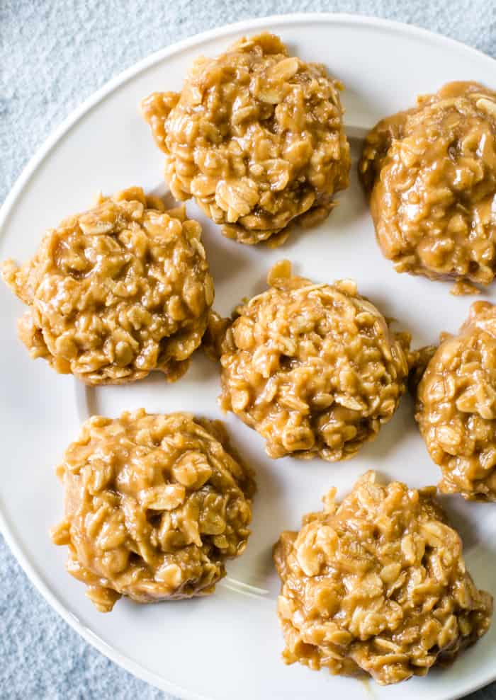 No Bake Oatmeal Cookies Peanut Butter Cleverly Simple