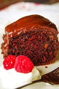 homemade chocolate cake on plate