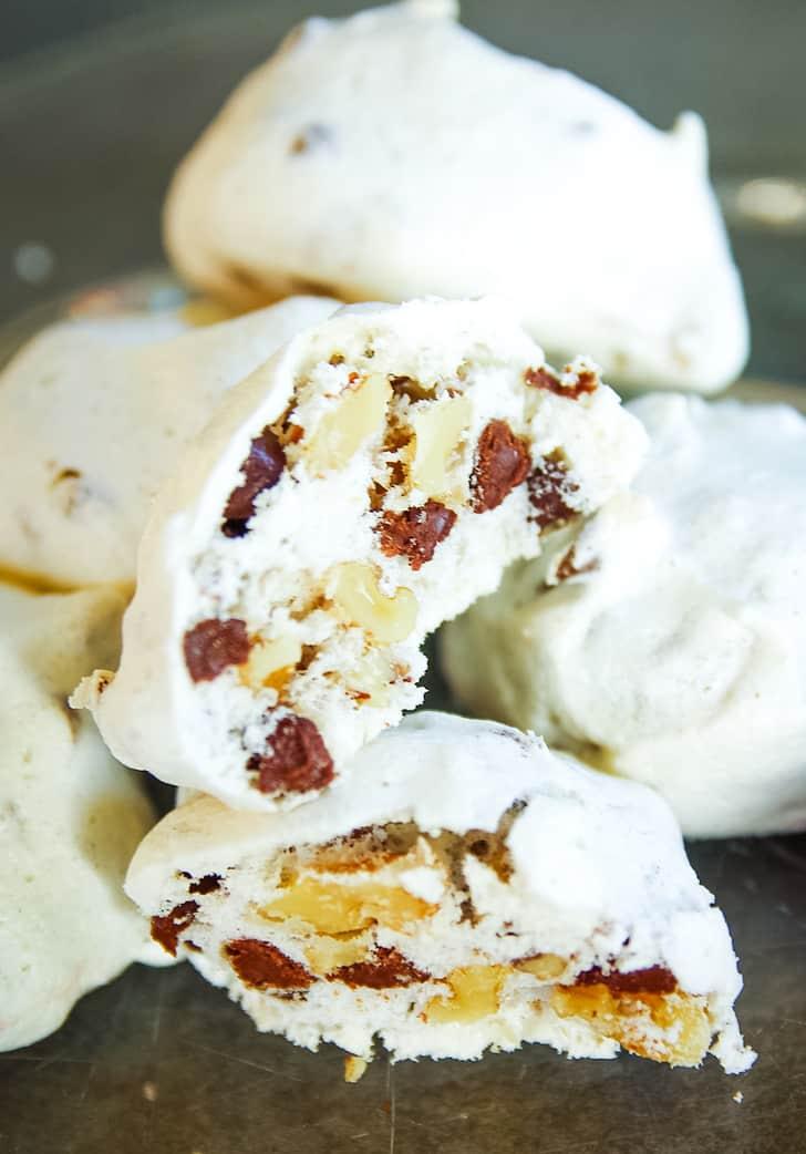 meringue cookies on plate
