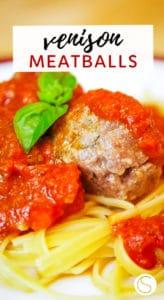 venison meatballs in sauce