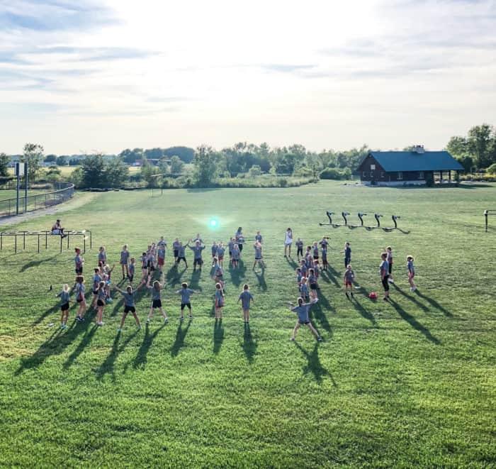 kids cross country practice