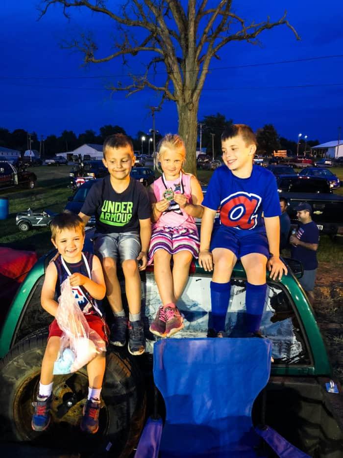 kids at demo derby