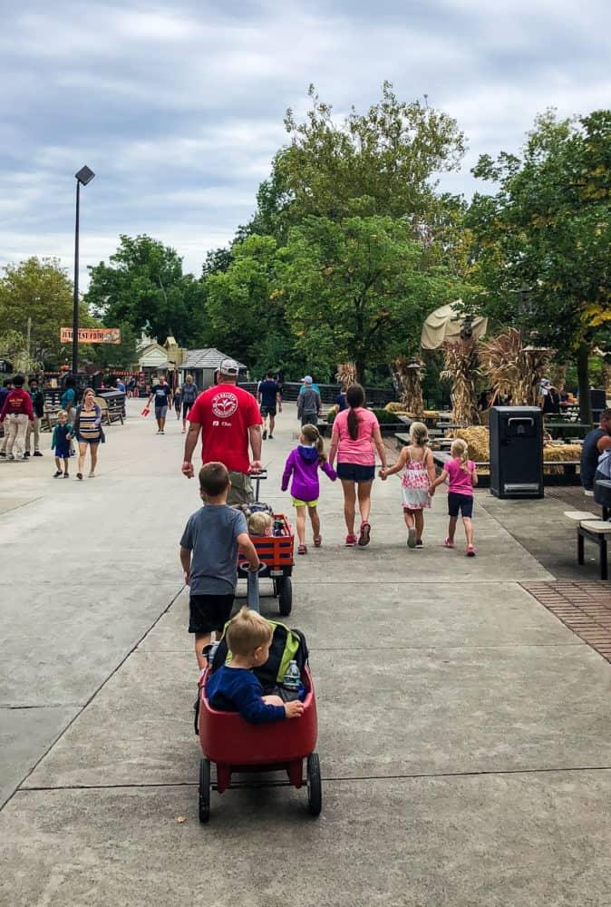 family at Cedar Point