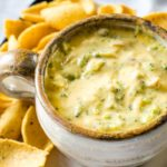 broccoli cheese dip in bowl