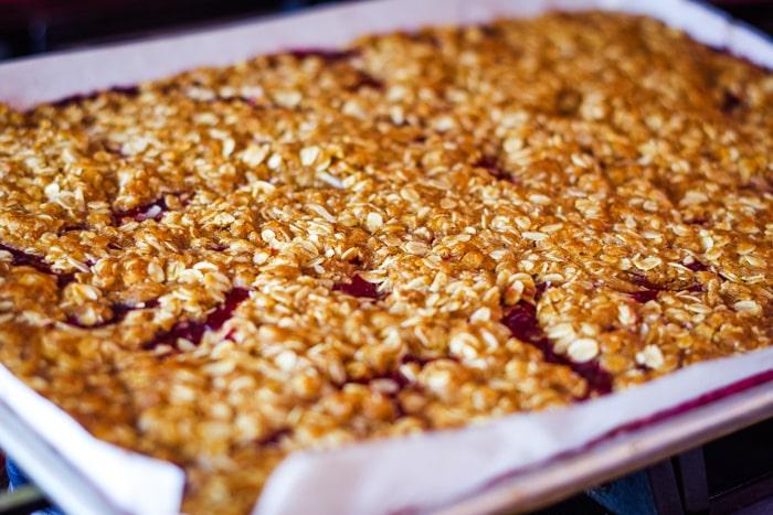 golden brown cranberry bars
