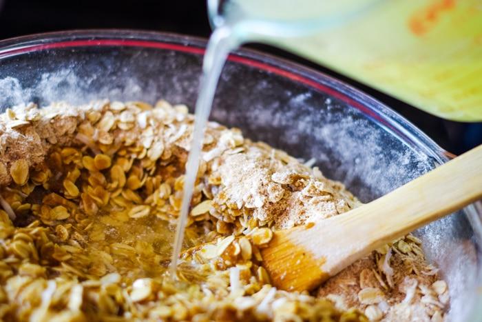 basic ingredients in large bowl