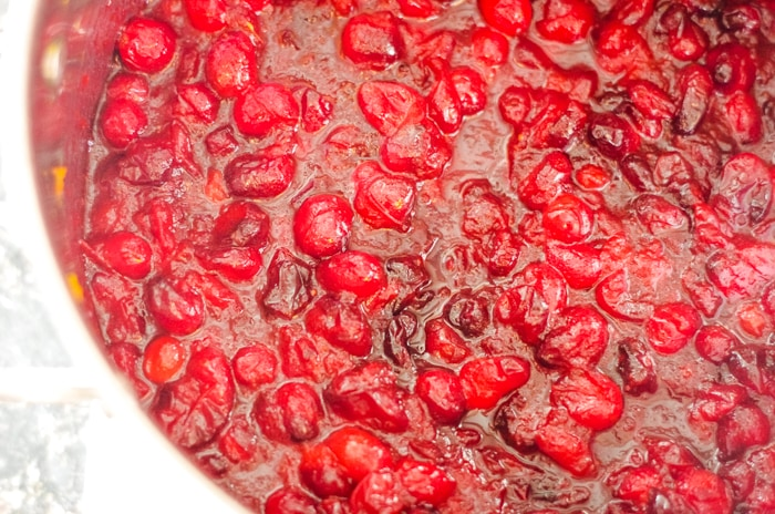 cooked fresh cranberries