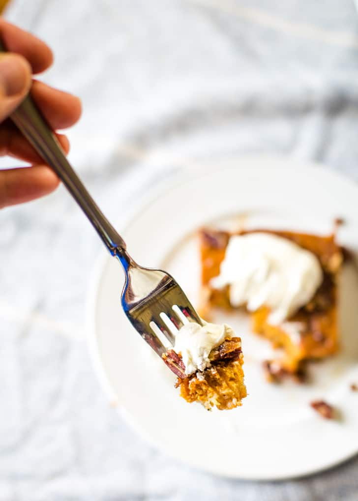bit size pumpkin pie bar