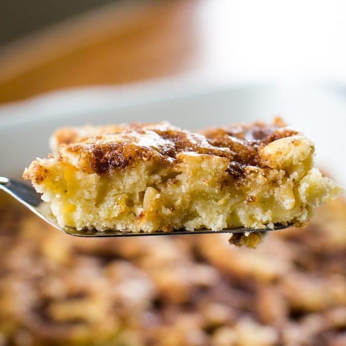 slice of apple coffee cake