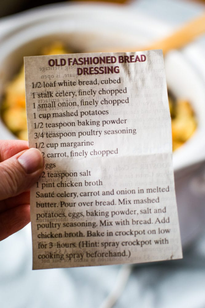 old fashioned bread dressing recipe