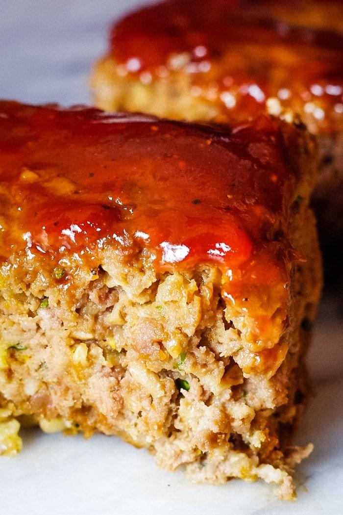 venison meatloaf on plate