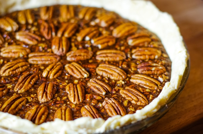 unbaked chocolate pecan pie