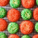 christmas sugar cookies on cooling rack