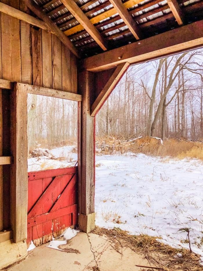 inside old barn