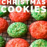 christmas cookies on cooling rack