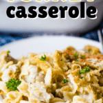turkey casserole on plate