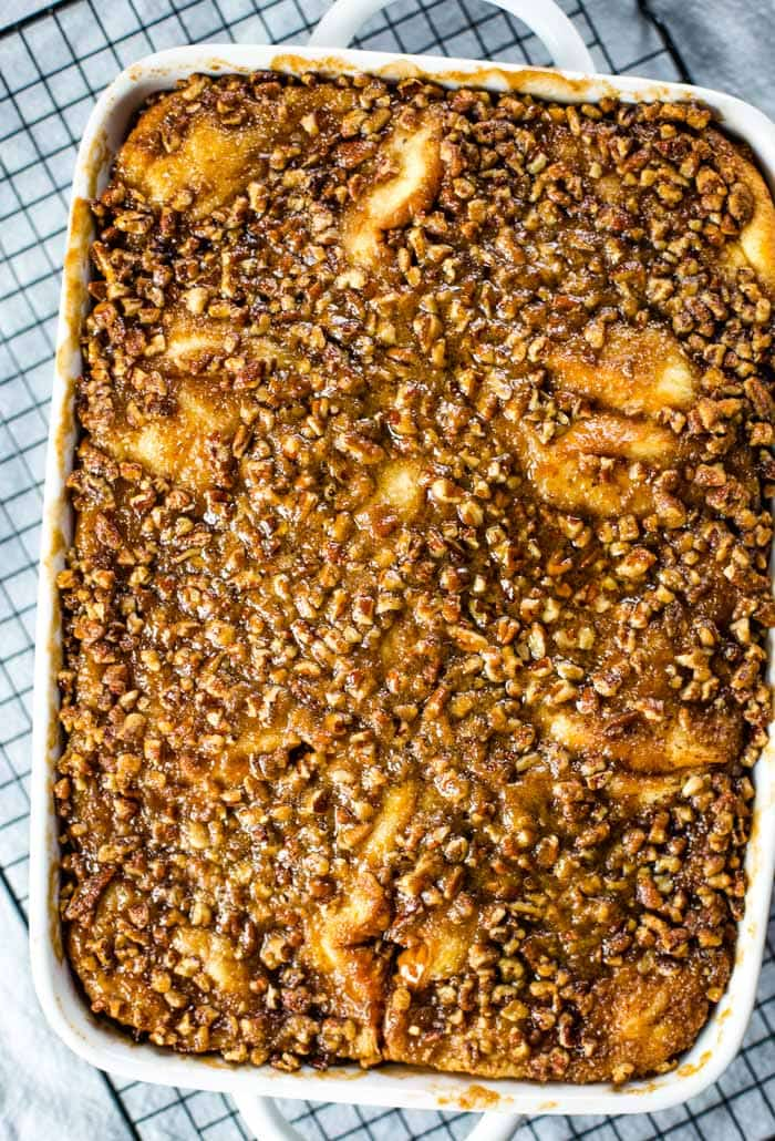 baked french toast casserole out of oven