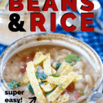 slow cooker beans and rice