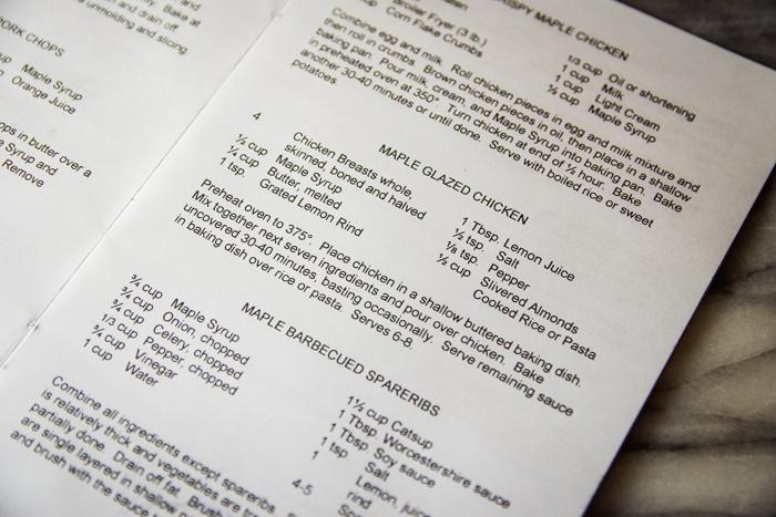 maple glazed chicken recipe card