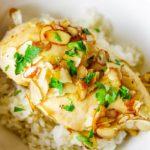 maple glazed chicken over rice