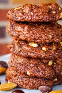 stack of gluten free chocolate cookies