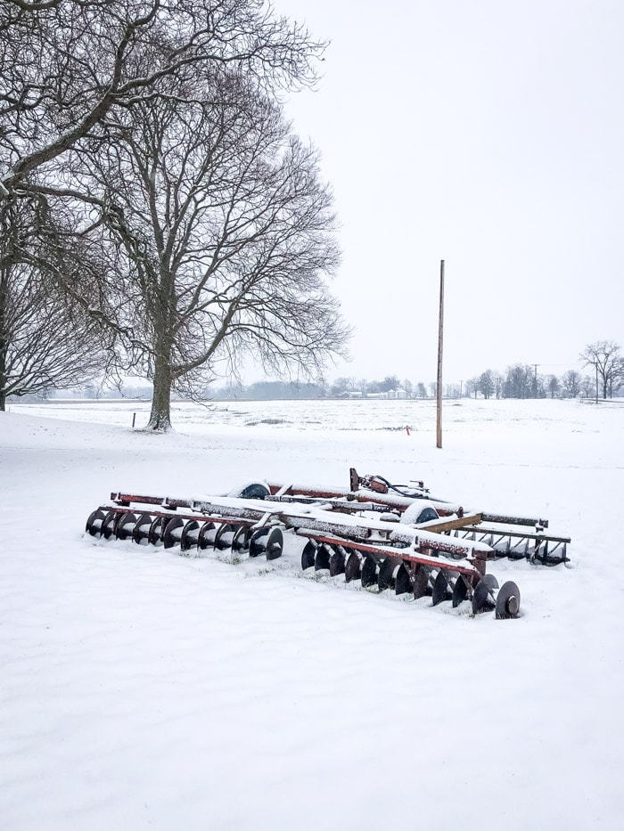 plow in snow