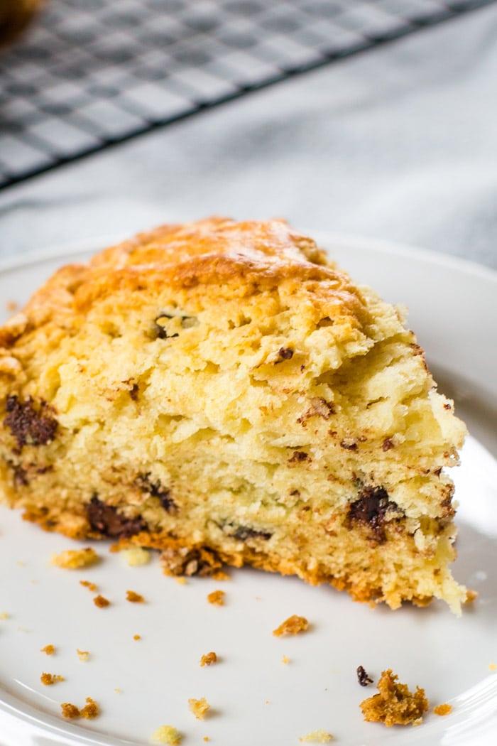 slice of irish bread on plate