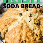 irish bread in baking pan