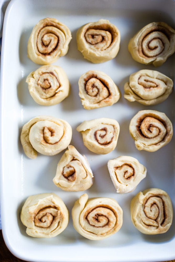 cinnamon rolls in 13x9 pans