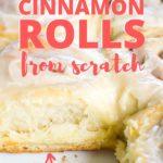 cinnamon rolls in baking dish